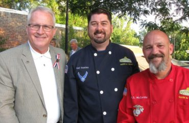 American Master Chefs Order president Bill Franklin, left, with Paul Stanley and Sean McCarthy from the Colorado Culinary Academy.
